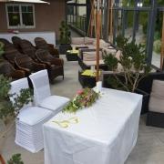 Gasthof Knoll Proellhofer - Hochzeitm, Heiraten, Hochzeitslocation, Weiz, Graz, Umgebung, Almenland - gedeckter Trauung Terrasse2